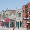 Buildings on Fort Macleod's Main Street reveal the architectural character of early Alberta.