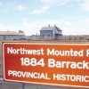 The 1884 North West Mounted Police barracks provincial historic site is being reconstructed.