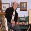 Artist George Kush in his Trail's End Studio.