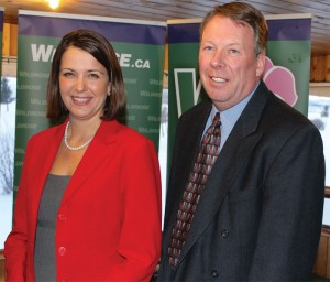 Wildrose Party leader Danielle Smith and Pat Stier