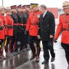 RCMP Deputy Commissioner Dale McGowan and federal Minister of State, Finance Ted Menzies inspect the troops Friday during the grand opening of Fort Macleod's new RCMP detachment.