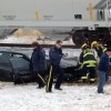 Crash involving a car and a CP freight train