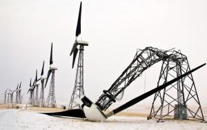 Buckled TransAlta wind turbine
