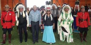 John Duncan and Piikani Nation Chief Gayle Strikes With A Gun