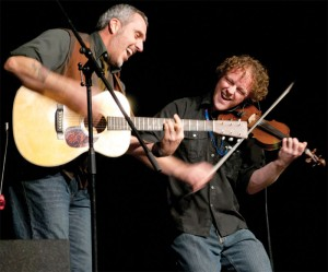 John Wort Hannam and fiddler Scott Duncan