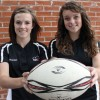 Rugby players Walmsley and Kinsella