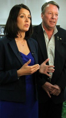 Danielle Smith and MLA Pat Stier