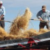 threshing demonstration
