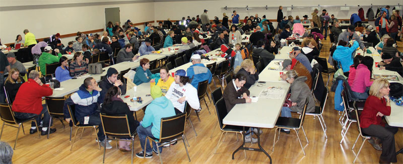 Fort Macleod And District Community Hall Was Turned Into An Emergency Shelter Sunday For Travellers Stranded By The Winter Storm