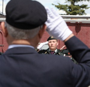 Fort Macleod cadet salute