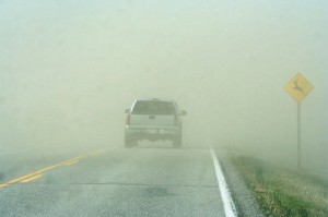 duststorm reduced visibility
