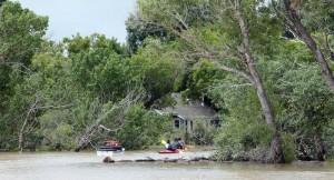 Tillsleys kayak flood water