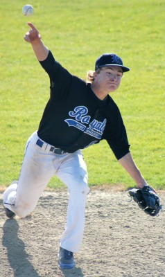 Ryan Cook on the mound for the Fort Macleod Royals against Medicine Hat Knights.