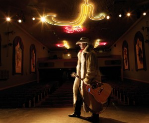 Tim Hus, shown here on the stage of the historic Empress Theatre in Fort Macleod, will perform as part of the Centre Stage Series in Fort Macleod.