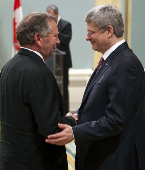 Ted Menzies with Prime Minister Stephen Harper.