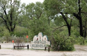 River Valley Wilderness Park was flooded by the Oldman River.