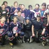 The Fort Macleod Mavericks, back row, from left: trainer Taylor Wolstenholme, Elias Smith, Jonah Halcrow, Parker Small Legs, Jayce Van Driesten, Tanner Weasel Head, Triston Wells, Abigal Cryderman, Sienna Smith, Talyn Bruised Head, Brayden Smith and assistant coach Shawn O'Sullivan. Front row, Kalem Krebs, Jordy Welsh, junior manager Braxton Wells, Brody Zmurchyk and Jason Stockton. Missing from photo is Colmyn Crop Eared Wolf, Calim Yellow Face, Cauy Yellow Face, Trez Day Chief, Walker Many Fingers, coach Randy O'Sullivan, manager Marci Stockton and assistant coach Tim Cryderman