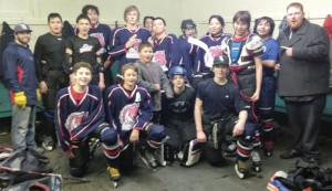 The Fort Macleod Mavericks, back row, from left: trainer Taylor Wolstenholme, Elias Smith, Jonah Halcrow, Parker SmallLegs, Jayce Van Driesten, Tanner Weasel Head, Triston Wells, Abigal Cryderman, Sienna Smith, Talyn Bruised Head, Brayden Smith and assistant coach Shawn O'Sullivan. Front row, KalemKrebs, Jordy Welsh, junior manager BraxtonWells, Brody Zmurchyk and JasonStockton. Missing from photo is Colmyn Crop Eared Wolf, Calim Yellow Face, Cauy Yellow Face,Trez Day Chief, Walker Many Fingers, coach Randy O'Sullivan, manager Marci Stockton and assistant coach TimCryderman