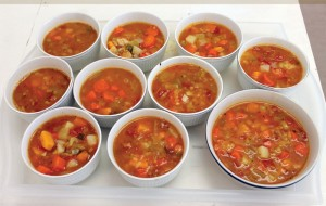 Vegetable soup was on the menu at the Welcome Mat.