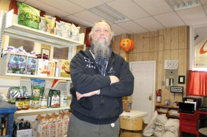 Trent Moranz of South Country Fair and Cottonwood Co-op in their new space at 2215 Second Avenue.