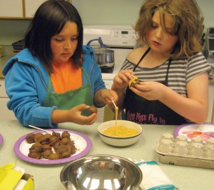 Day camp baking program