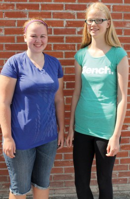 Sarah Foote (left) and Marissa Medema are organizing a fun soccer tournament as a fund-raiser for a young girl awaiting surgery.