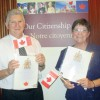 Rev. Eras Van Zyl and his wife Lynne embrace becoming Canadian citizens.