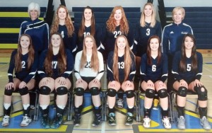 Provincial silver medalist F.P. Walshe Flyers. Back row, from left: coach Fonda Vadnais, Emily Eremenko, Shelby Lyke, Cassidy Nathe, Jamie Brown and coach Bobbi Curran. Front row, from left: Abby Bourassa, Brooke Pansky, Janelle Stockton, Andie Curran, Danielle Hedley and Brooklyn Bourassa.