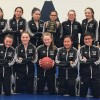 The tournament champion F.P. Walshe Flyers. Back row, from left: manager Michelle Barnes, Tavin Goodstriker, Shelby Scout-Bastien, Tenaya Goodstriker, Karsen Black Water, Haley Cervo, Sheridan George and coach Al Black Water. Front row, from left: Sidney Wolff, Tess Luther, Tiegan Trotter, Cassie Little Bear and Harlee Grier.