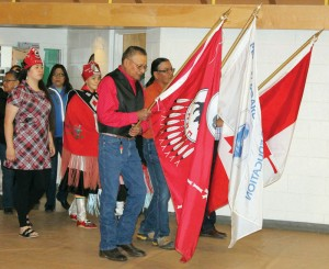 Traditional drumming and singing accompanied the grand entry.