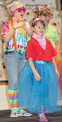"""Munchkins from """"The Wizard of Oz,' which debuts Friday at the Empress Theatre."""