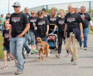 People head into the country on the 18th annual A-T Walk for a Cure.