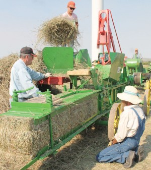 PHOTO BY FRANK MCTIGHE, THE MACLEOD GAZETTE Heritage Acres Farm Museum's 29th annual show will feature old-time farming demonstrations such as threshing and baling.