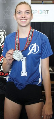 Jamie Brown and her U18 Alberta teammates won the silver medal at the National Team Challenge Cup at Richmond, B.C.