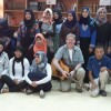 Tim Isberg conducted a performance workshop for Bedouin students at a school in the Negev desert.