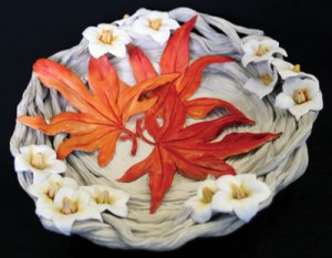 Fort Macleod artist Marney Delver created this dish for the Town of Taber. Taber officials presented it as a gift to officials from Higashiomi City to mark the 35th anniversary of twinning with the Japanese community.