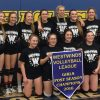 Westwinds Volleyball League postseason tournament champion F.P. Walshe Flyers, back row, from left: coach Randy Bohnet, Janelle Stockton, Alex Garrett, Andie Curran, Shelby Lyke, Jamie Brown, Brooke Pansky, Emily Eremenko, Abby Bourassa and coach Bobbi Curran. Front row, from left: Tiegan Trotter, Haley Cervo, Stephanie Tobler-Crowe and Madison Hearn.