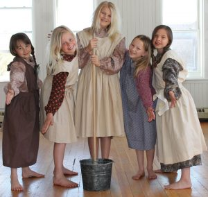 Annie's orphan friends, from left: Zoe Nelson, Chloe Beusekom, Kennedy Hazelaar, Lydia Nelson and Erika Bengtson.