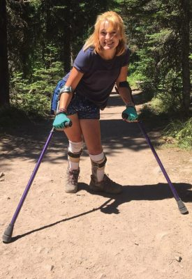 Becca Neels will climb out of her wheelchair on Sept. 15 to walk five kilometres in the Life With Limits Challenge in support of the cerebral Palsy Association of Alberta.