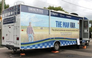 The Man Van offers free PSA blood tests for men to aid in early detection of prostate cancer. The Man Van is at Main Street Market on Thursday, Aug. 31.