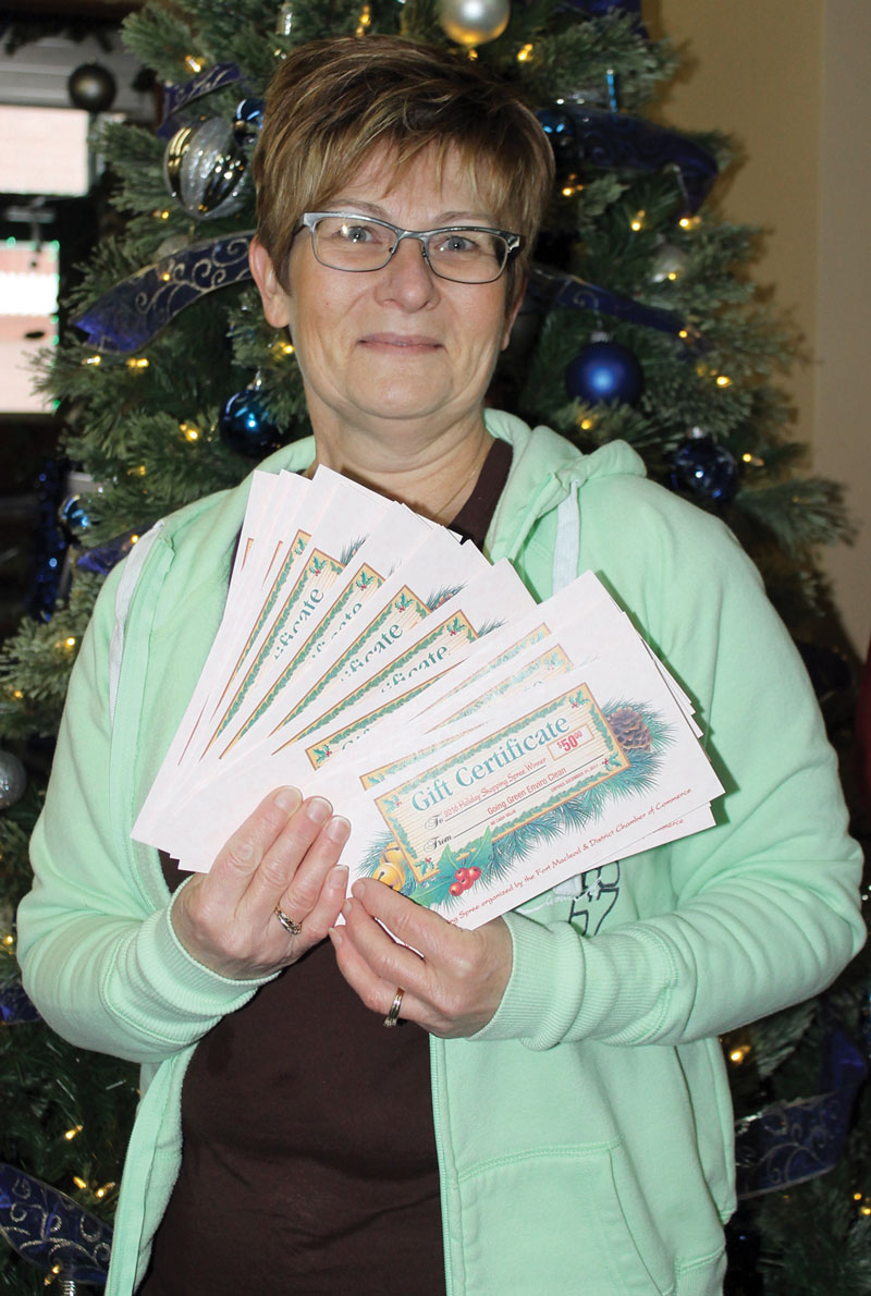 Fort Macleod Chamber Co Ordinates Annual Shopping Spree Plan Your Corrine Conner Of Was The Winner 2016 Holiday Sponsored By Commerce