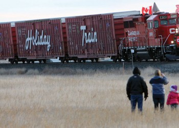 CP Holiday Train in Fort Macleod on Monday