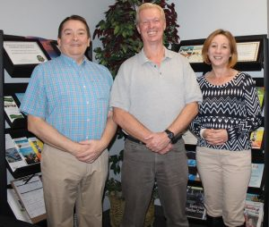From left: Community Futures Alberta Southwest general manager Tony Walker, business analyst Kirk Clements and community economic development co-ordinator Tammy Morrison.