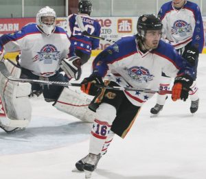 Turner Sharp is in his rookie season with the Coaldale Copperheads.