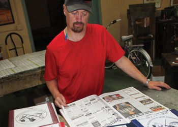Jeff Murphy compiling Fort Macleod Fish and Game history