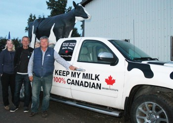 Ontario dairy farmer promoting Canadian milk