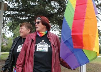 Pride flag flies over Fort Macleod