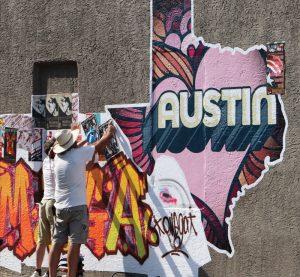 last of us mural
